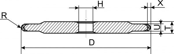 14FF1. Круги шлифовальные плоские