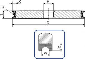 1F6V. Круги шлифовальные плоские