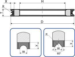 2F6V. Круги шлифовальные плоские