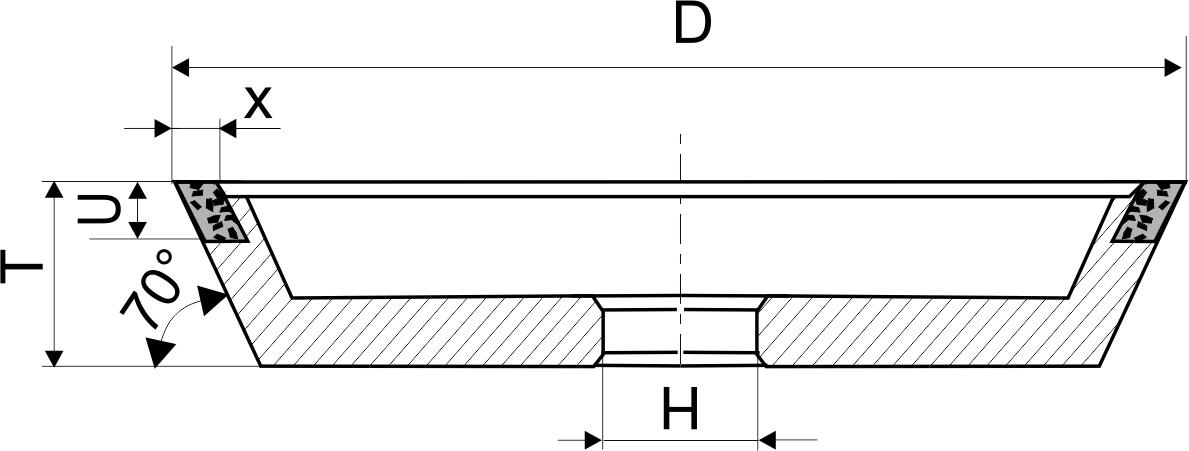 11V9-70. CBN Круги шлифовальные чашечные PDT