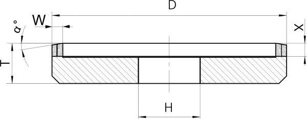 12М2-45. Круги шлифовальные тарельчатые