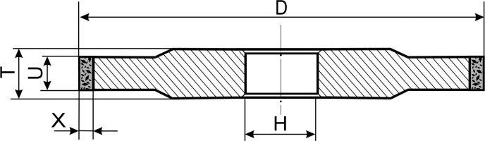 14А1. Круги шлифовальные прямого профиля PDT