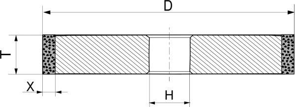 1А1. Круги шлифовальные прямого профиля PDT