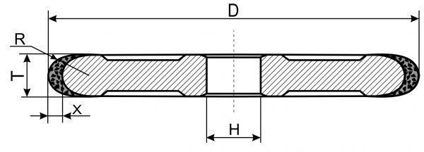 1FF1. CBN Круги шлифовальные плоские