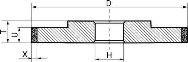 3А1. CBN Круги шлифовальные прямого профиля PDT