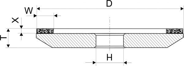4А2. CBN Круги шлифовальные тарельчатые PDT