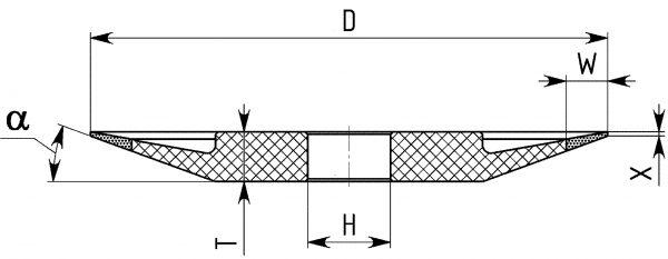 4ВТ9. Круги шлифовальные тарельчатые