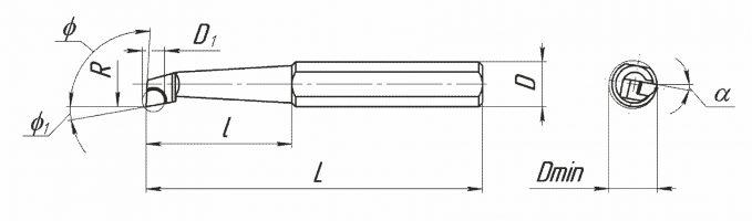 Резцы расточные, оснащенные PCBN, для координатно-расточных станков