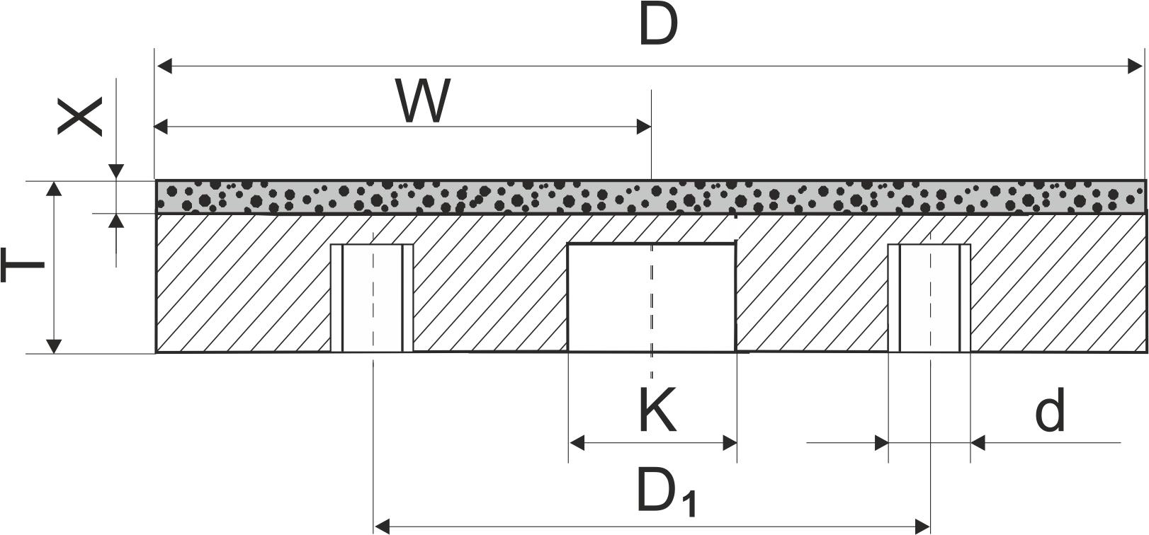 6А2Т. CBN Круги шлифовальные плоские PDT