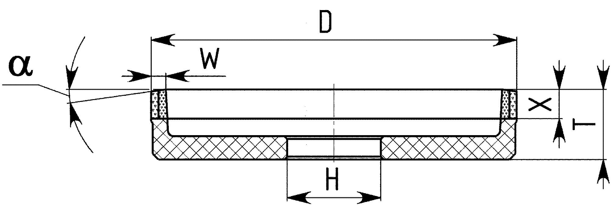 6А2. CBN Круги шлифовальные плоские с выточкой PDT