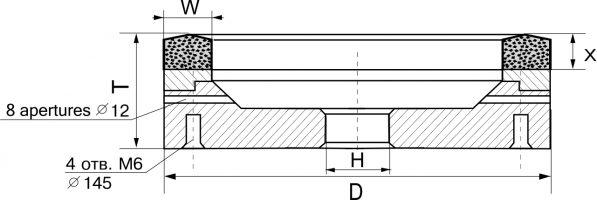 6A2. Круги шлифовальные плоские с выточкой
