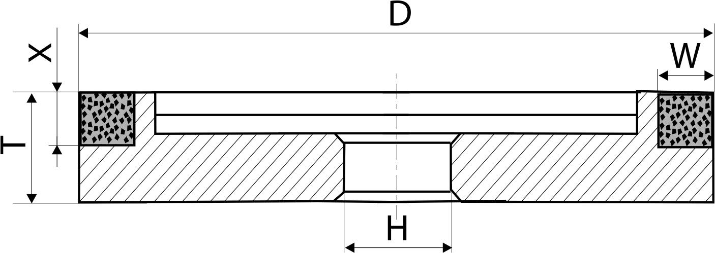 6А9. CBN Круги шлифовальные плоские с выточкой PDT