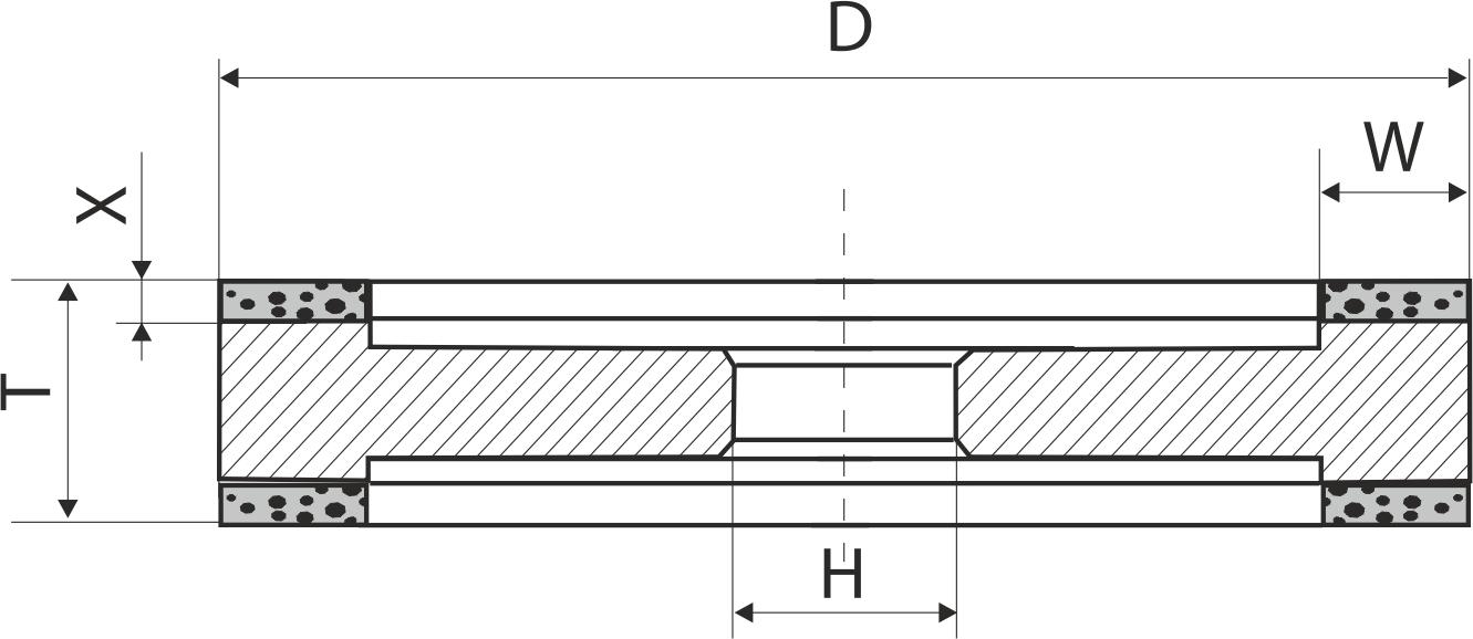 9А3. CBN Круги шлифовальные плоские PDT