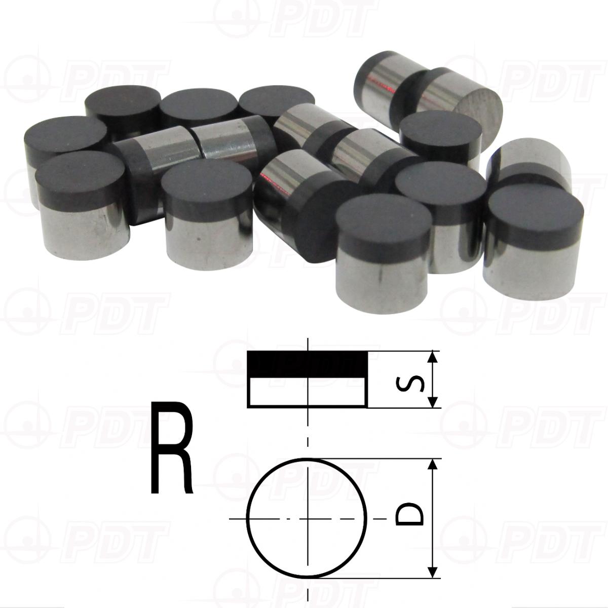 Пластины режущие сменные двухслойные PCBN, PCD